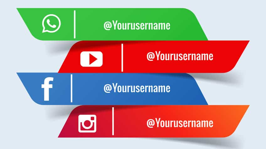 Social media banners with place for company name